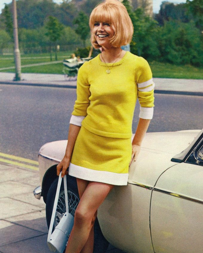 Judy Geeson Color 8X10 Photo Sports Car Pin Up 60'S