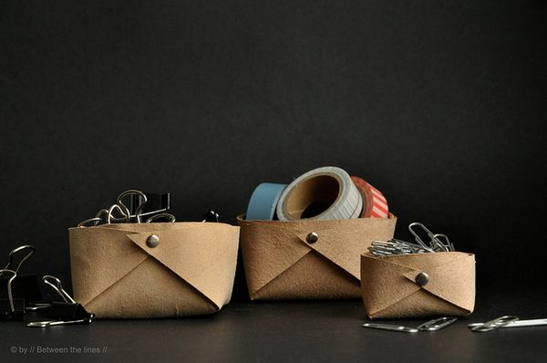 How to: Make Quick and Easy Leather Storage Bins