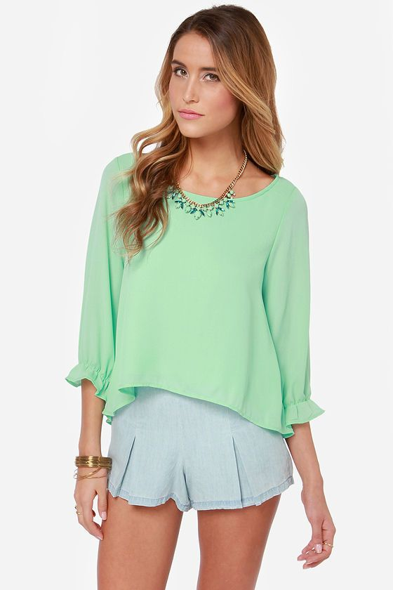 Best Day Ever Mint Green Top at LuLus.com! $37