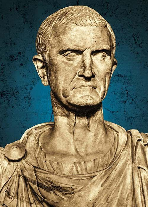 Busto de Marco Licinio Craso.