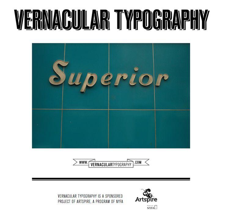 VERNACULAR TYPOGRAPHY : Vernacular Typography