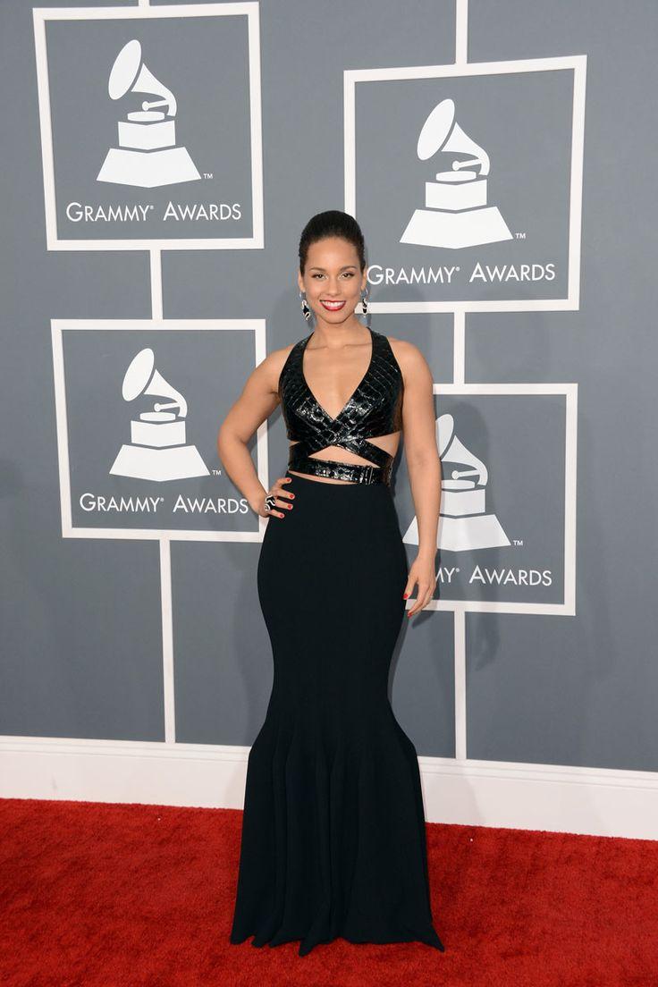todas las fotografías de la alfombra roja de la 55 edición de los premios Grammy: Alicia Keys con un vestido de Azzedine Alaïa | Galería de fotos 17 de 28 | Vogue