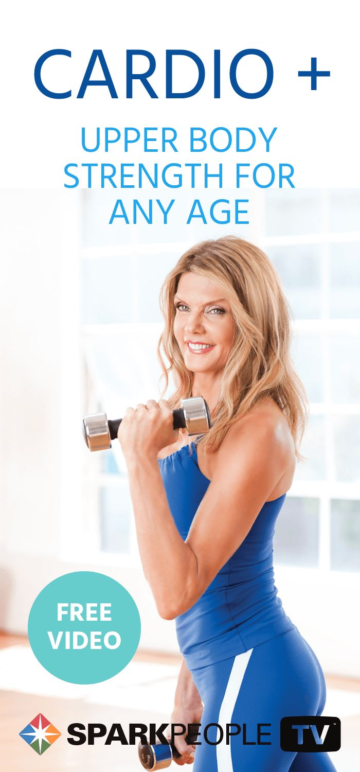 Anyone at any age can do this upper body strength training video! It's free and it's awesome so what are you waiting for? You're going to love it!
