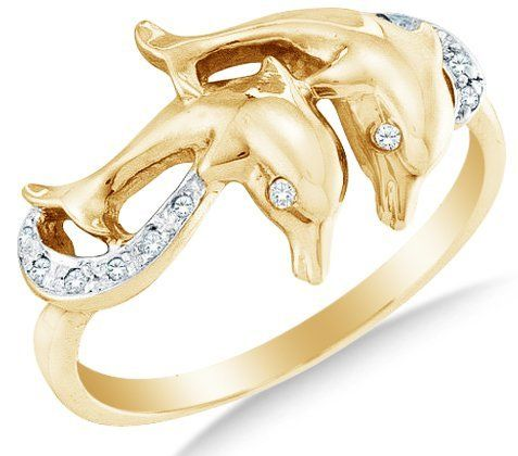 10k Yellow OR White Gold Ladies Womens Diamond Dolphin Ring (0.05 cttw.) Sonia Jewels. $209.00. *** FREE Standard Shipping ***. 10K Gold GUARANTEED, Authenticated with a 10K Stamp. Pure, Real & Natural Diamonds - GUARANTEED. .05 Total Diamond Carat Weight. *** FREE Velvet Ring Box ***
