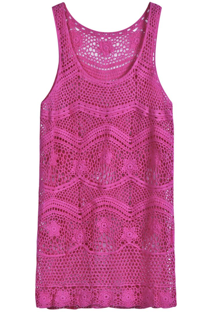 pink crochet dress <3