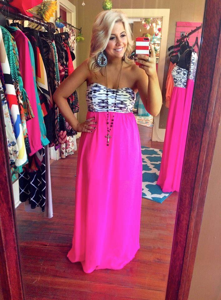 Neon maxi dress<3