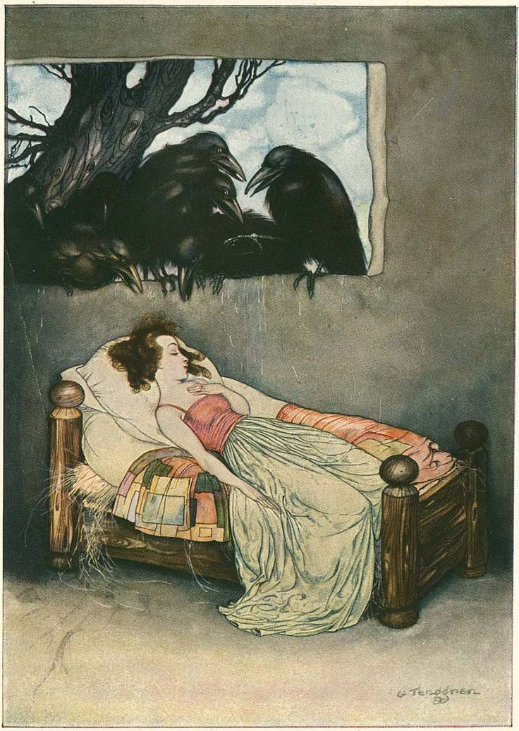 from an extremely rare 1923 edition of Grimm's Fairy Tales illustrated by Gustaf Tenggren.