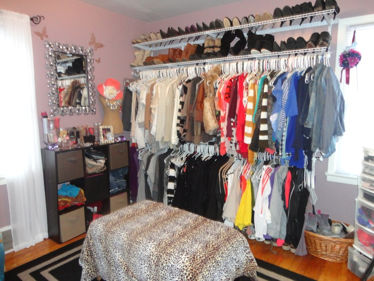 use a spare room for your walk in closet