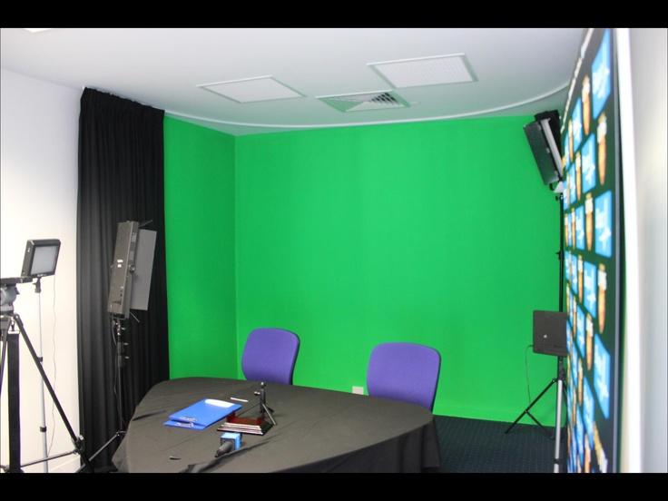 Green Screen in Brisbane Lions Media Room