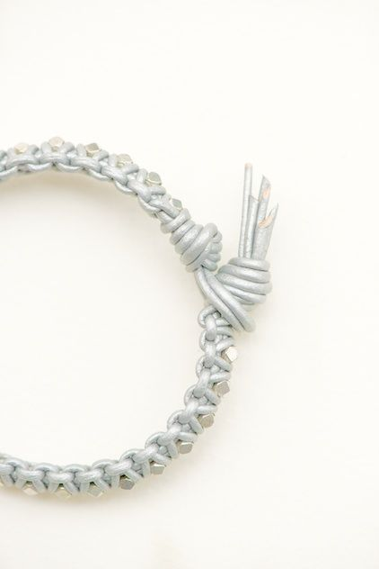 Leather Bracelet tutorial  - Great instructions must try! @Kim at eCrafty.com #ecrafty #diybracelets #braceletsupplies