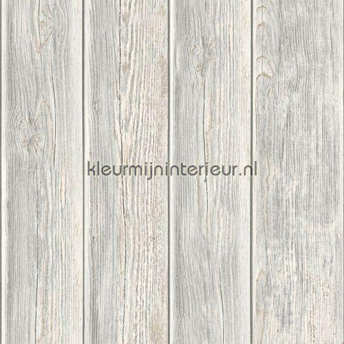 Gebeitste planken behang J86817, Kaleidoscope van Dutch Wallcoverings