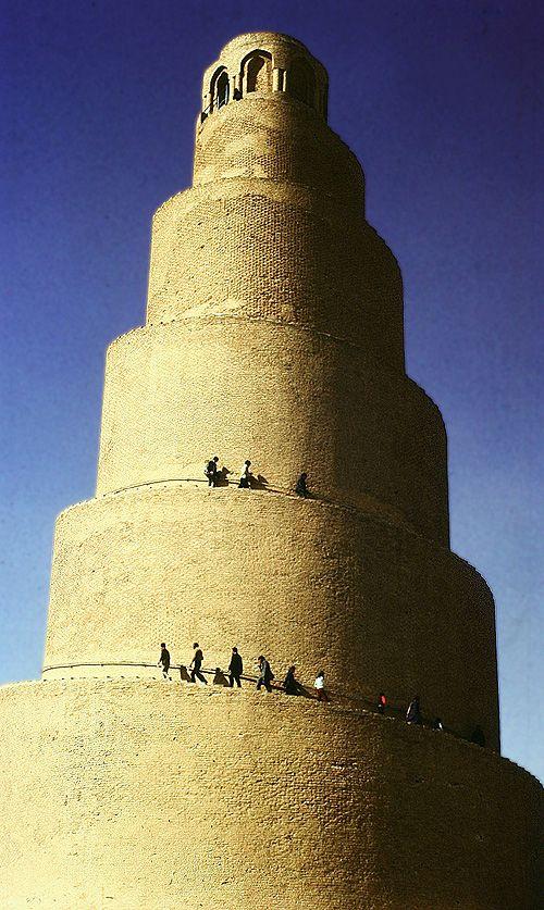 Minaret de la Grande Mosquée, Samarra, en Irak - www.castlesandmanorhouses.com