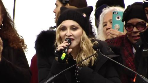 """Madonna's Protest Speech: """"Yes, I thought an awful lot about blowing up the White House"""" (Video) - https://therealstrategy.com/madonnas-protest-speech-yes-i-thought-an-awful-lot-about-blowing-up-the-white-house-video/"""