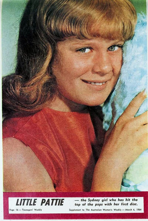 LIttle Pattie, 1964 (For the few who are unaware...Chrissie Amphlett's cousin....and much prettier than this photo from the supplement in The Australian Women's Weekly)