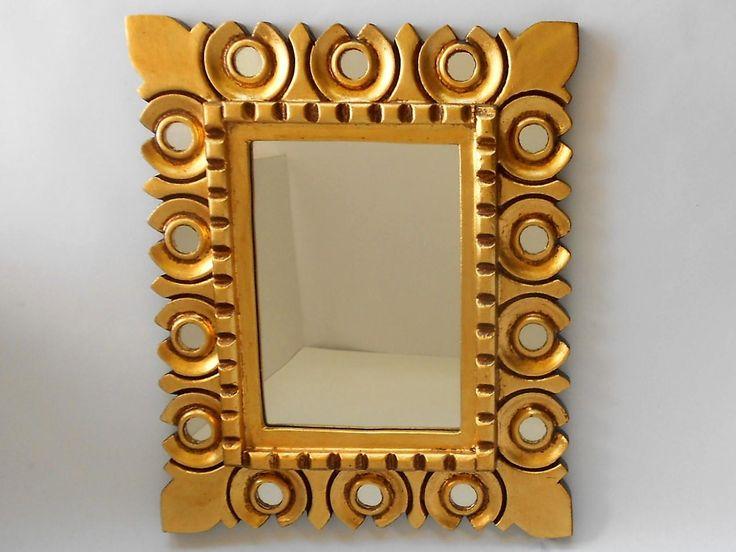 Rectangular Mirror,Mirrored Gold Frame,, Ornate Mirror, Gold LeafMirror, Bathroom Mirror, Item GLRM 2001 by GoldLeafGirl on Etsy