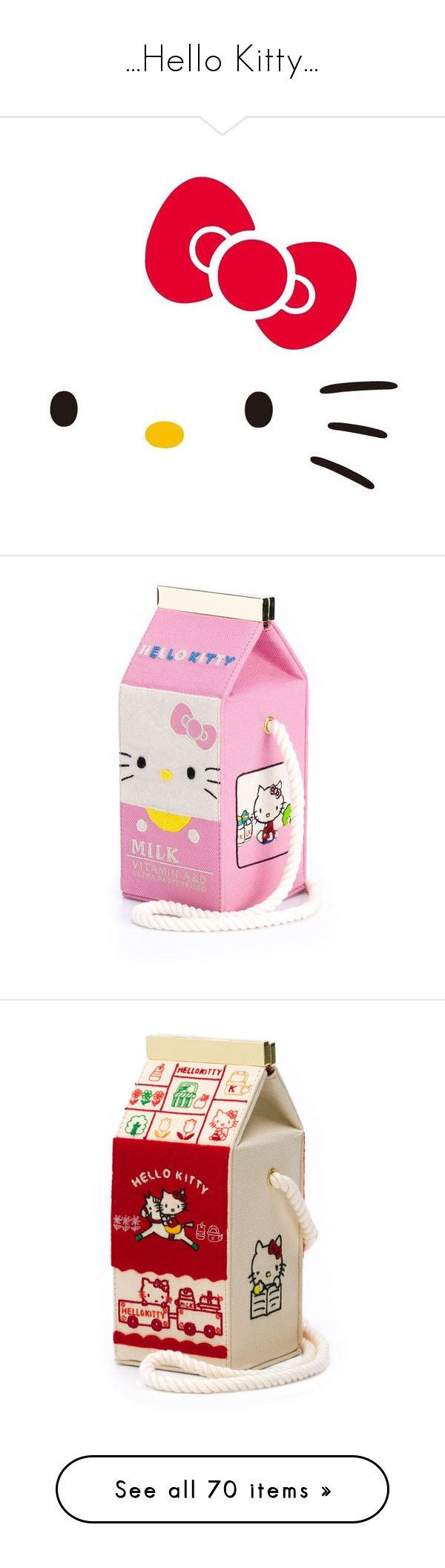 """""""...Hello Kitty..."""" by marciahofmant ❤ liked on Polyvore featuring bags, handbags, pink hello kitty handbag, crossbody purses, pink hello kitty purse, cartoon handbag, pink crossbody bag, shoulder bags, pink crossbody and multi color purse"""