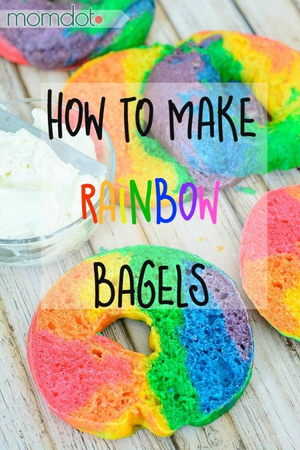Rainbow Bagels at home- The rainbow bagel store shut down, here is how to make your OWN gorgeous rainbow bagels