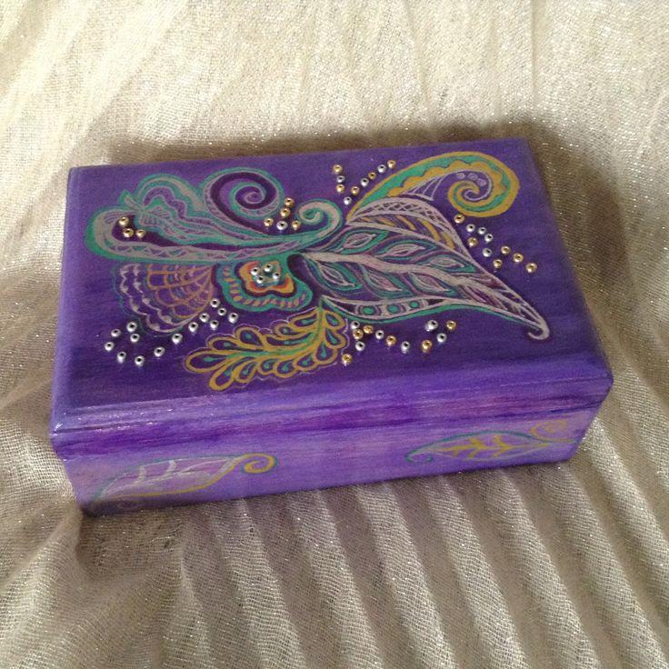 Ethnic batik style Wooden jewelry keepsake box, decorative box, jewelry case, handpainted, gift box. by EthnicDrops on Etsy https://www.etsy.com/listing/400564157/ethnic-batik-style-wooden-jewelry