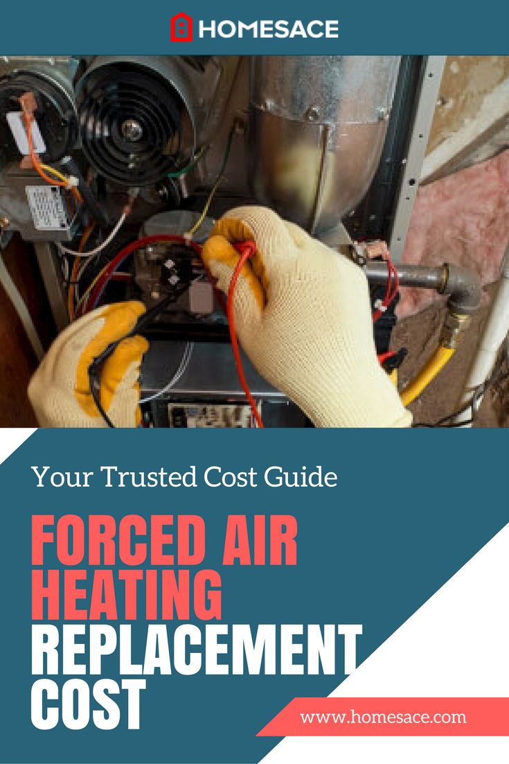 How much should it cost you to replace your forced air heating? Get our national cost averages or request a custom quote from a local professional near you. Homesace.com provides you with all the forced air heating tips, advice and costs you need to make your next HVAC project so much simpler.