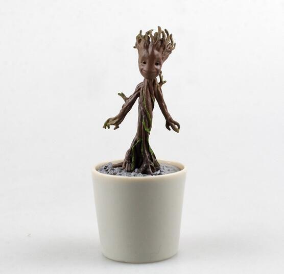 뜨거운 판매 장난감 Q 버전 미국 애니메이션 그림 PVC 장난감 보호자 galaxy 그루 12 센치메터 선물 무료 배송