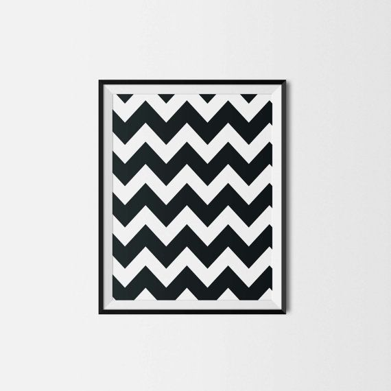Illustration - Pour impression immédiate - CHEVRON - 8x10 - Chambre de bébé - enfant - Amour - Nursery wall decor - Instant download