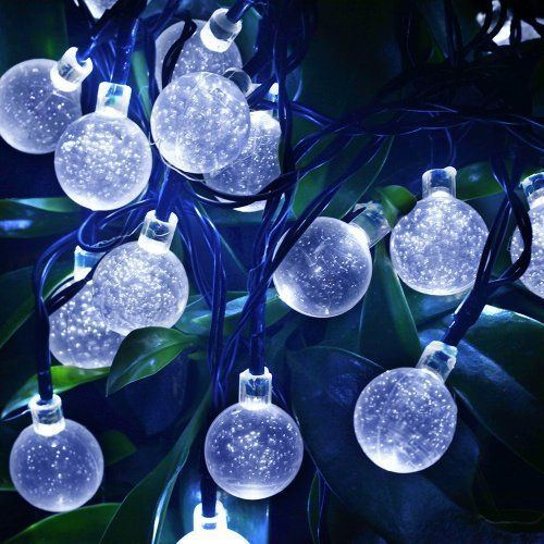 Mu0026t Tech Solar Powered 20 LED String Lights For Outdoor Garden Patio Lawn  Christ