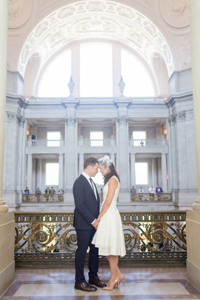 Urban Romance A Chic San Francisco City Hall Wedding Red Eye Collection Photography