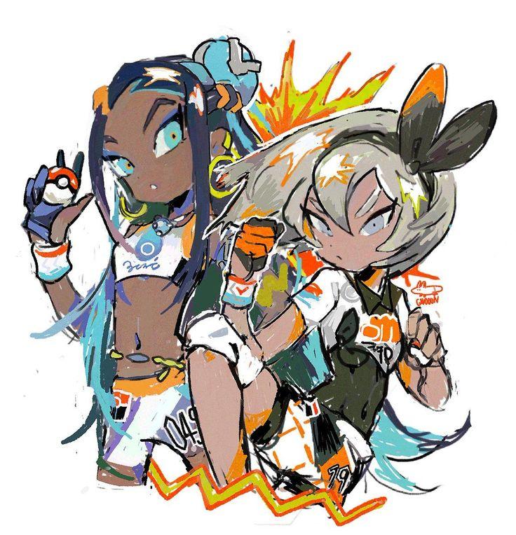 nessa and bea 權 Pokemon game characters, Pokemon