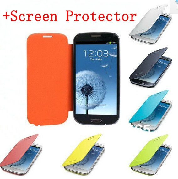 High Quality Flip Genuine Pu Leather Case For Samsung SIII Galaxy S3 i9300 Case Cover Free Shipping+ Free Screen Protector on AliExpress.com. $7.88