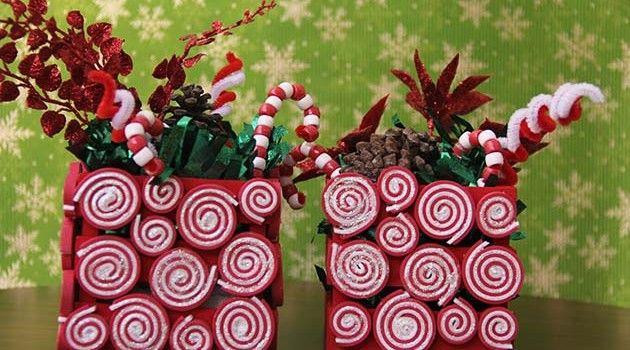 Dulces centros de mesa navide os y caseros christmas for Centros navidenos caseros