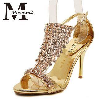 Strass casamento sandálias de salto alto Sexy peep sandálias verão T Starp X0406 poe