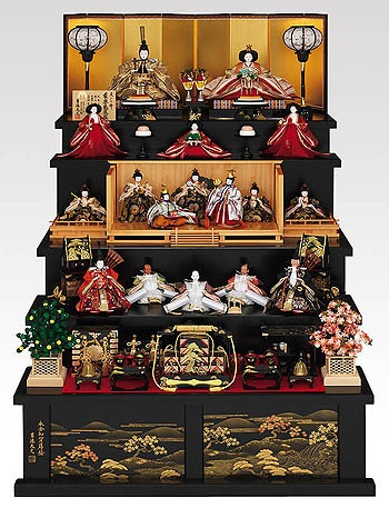 Hina doll display for Girls Day (3rd of March) in Japan.