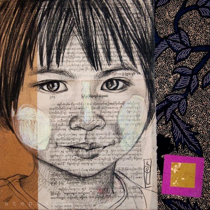 Stéphanie Ledoux - Carnets de voyage: Fillettes des pagodes