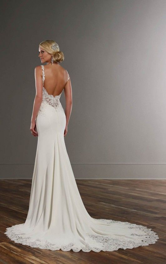 753 Sheath Wedding Dress by Martina Liana