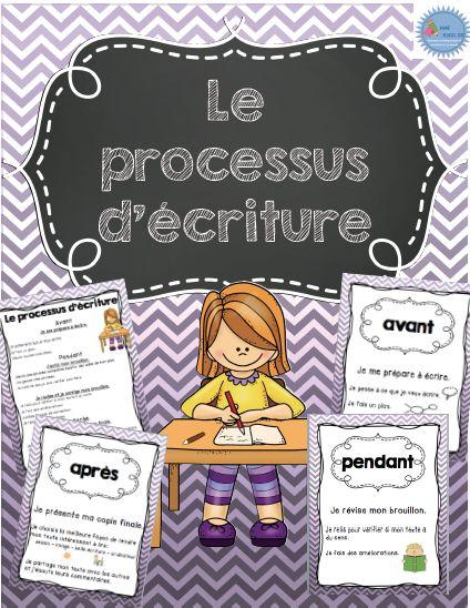 Référentiel pour le processus d'écriture avant-pendant-après/ French writing process posters