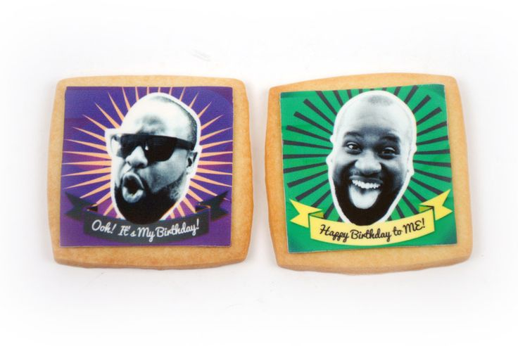 Birthdays are more fun with your face right on a shortbread cookie