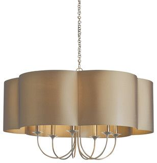 Rittenhouse Chandelier, Taupe Sheer, Large - contemporary - chandeliers - by Masins Furniture