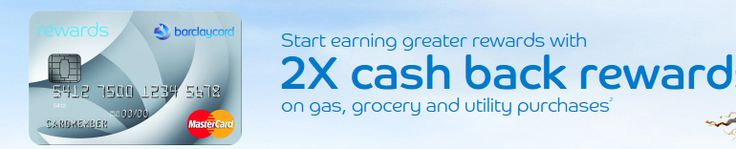 The Barclaycard Rewards MasterCard is a great offering from Barclay which has many of the same great benefits as their cards designed for excellent credit. You can Earn 1 point for every dollar spent on the card, plus earn 2 points per dollar spent on gas, groceries and utilities with no annual fee.