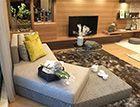 リビングルーム – 機能的でおしゃれな変形ソファ