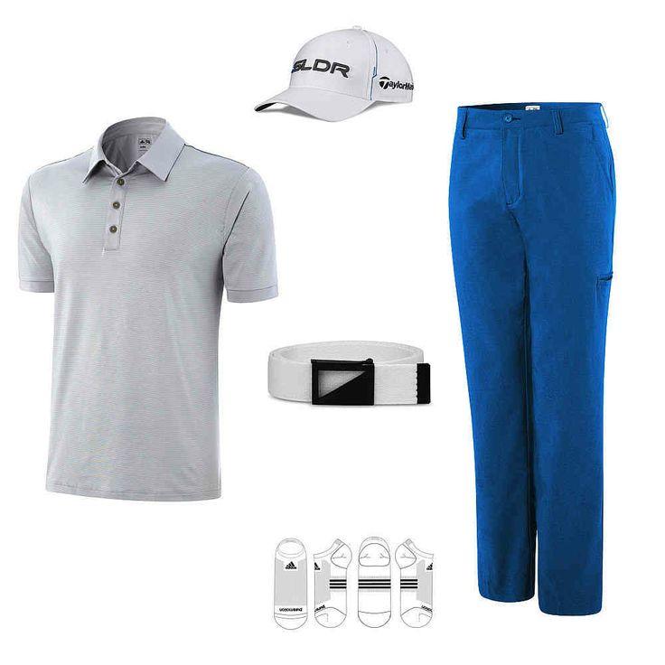 "Golfbekleidung Herren Kollektion adidas ""White Solar Blue"""