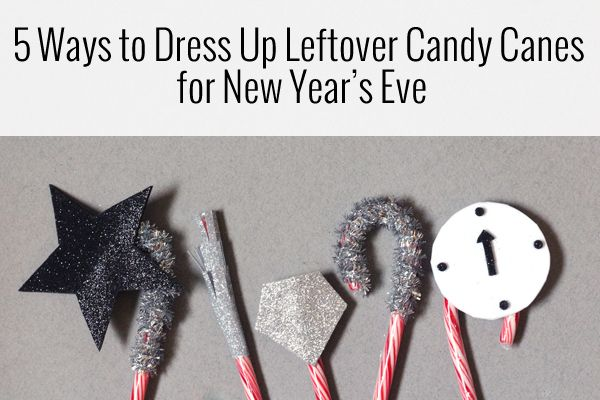 5 Ways to use Candy Canes for New Year's Eve
