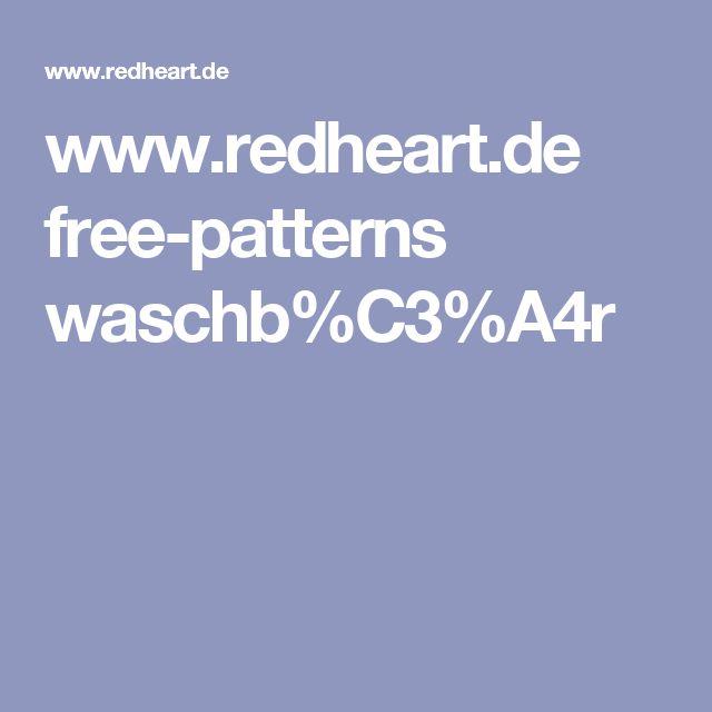 www.redheart.de free-patterns waschb%C3%A4r