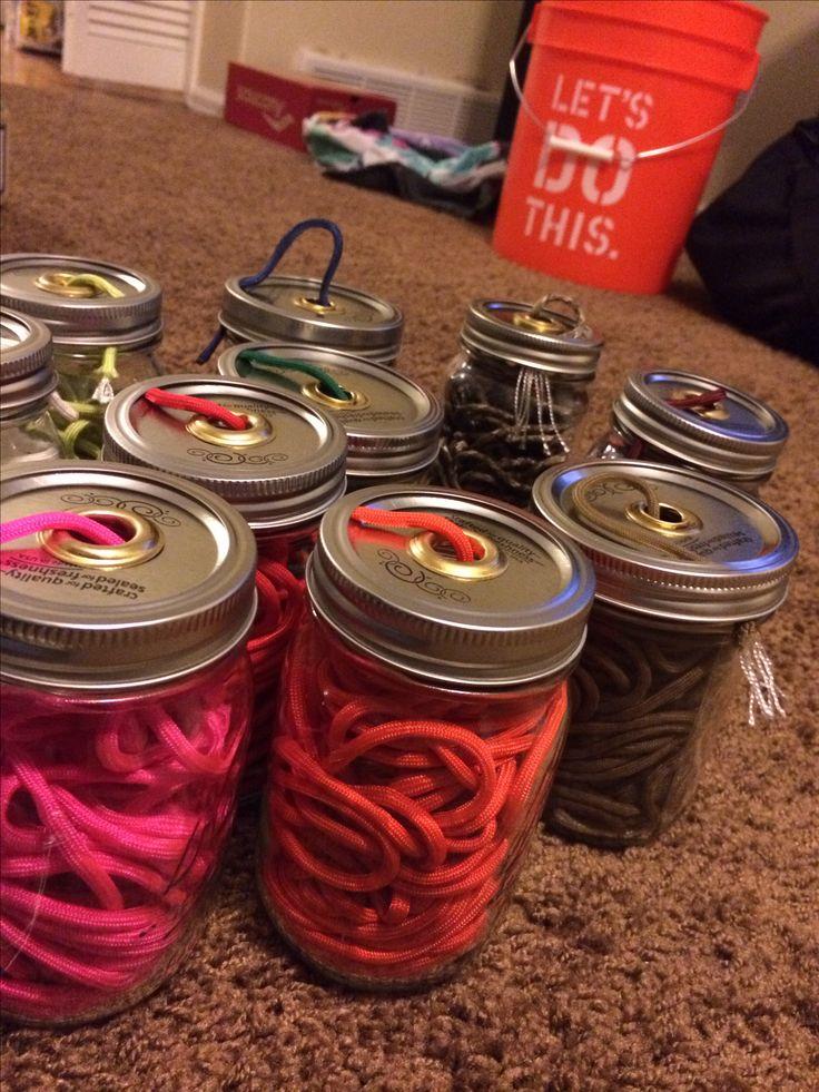 550 cord storage jars | Paracord | Pinterest | Bracelets ...
