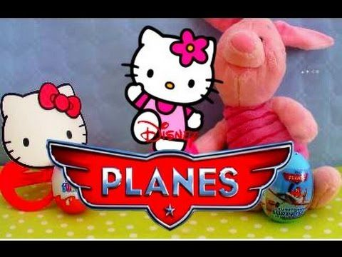 Kinder Surprise Hello Kitty Planes unboxing surprise eggs