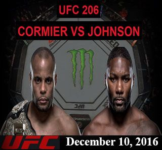 Watch UFC Live Stream - Daniel Cormier Vs Anthony Johnson (December 10, 2016), Air Canada Centre, Toronto Ontario, Canada.