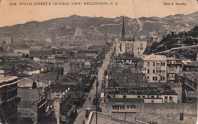 Old postcard of Wellington