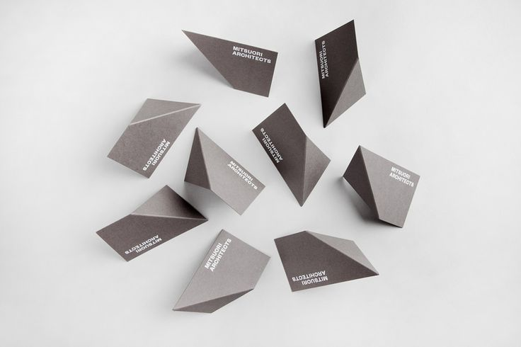 Logotype and business cards designed by Hunt & Co. for Melbourne based architectural design studio Mitsuori Architects. Featured on bpando.org