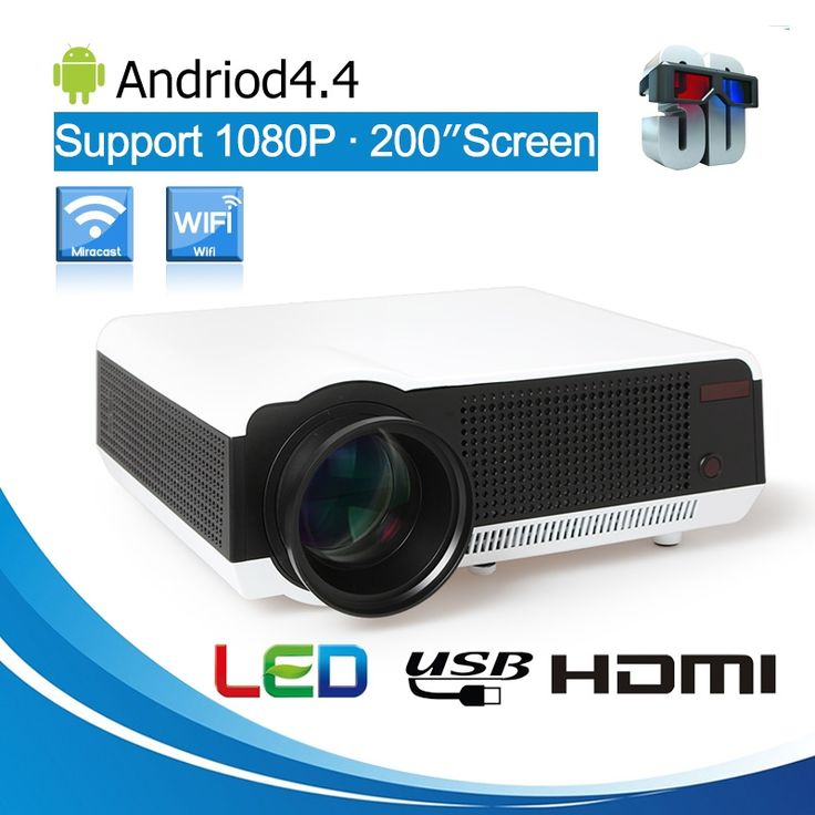 237.23$  Watch here - http://alix30.worldwells.pw/go.php?t=32790516685 - Hot Sale! 2017 Newest Original 5500lumens Android 4.4 LCD Projector WiFi Bluetooth factory projector PK Smart television 237.23$