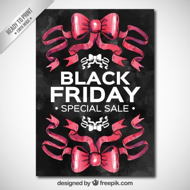 Free vector Watercolor black friday poster #27489