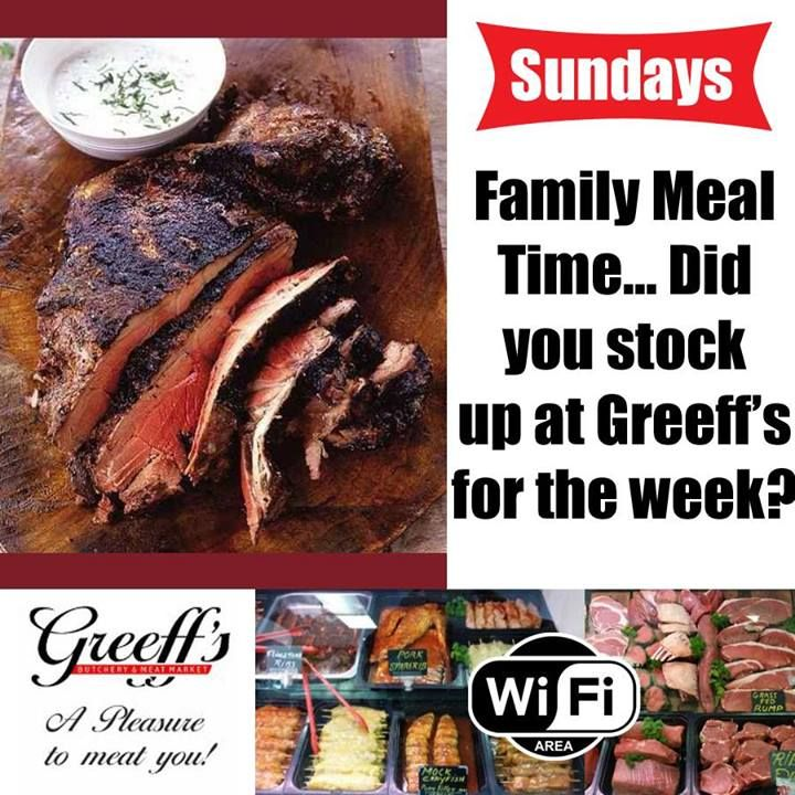 What is on the menu for your family today? Have you visited Greeff's recently to look at our wide variety of meats and eats at affordable prices? #butchery #meat